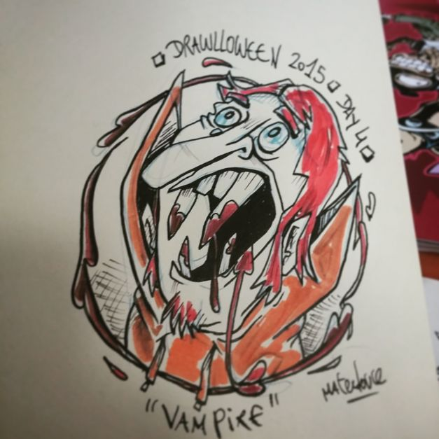 Drawlloween #04 - Vampire