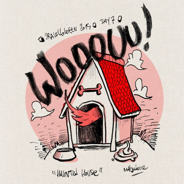 Drawlloween #07 - Haunted house