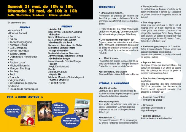 Programme Salon de la BD et des arts graphiques de Roubaix #11