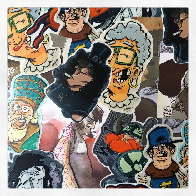 Stickers goodies transparent Le courant d'art