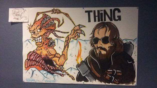 Fresque The Thing à la soirée Carpenter 01