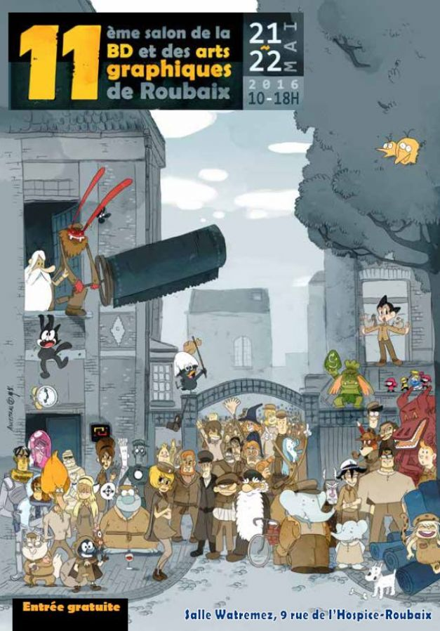 Affiche Salon de la BD et des arts graphiques de Roubaix #11